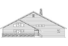 House Plan Design - Bungalow Exterior - Rear Elevation Plan #5-377
