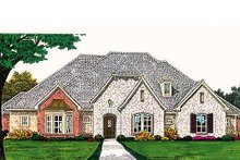 European Exterior - Front Elevation Plan #310-696