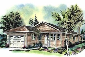 Ranch Exterior - Front Elevation Plan #18-151