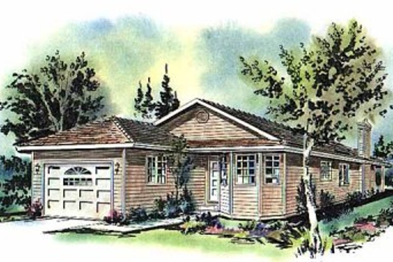 Ranch Exterior - Front Elevation Plan #18-151 - Houseplans.com