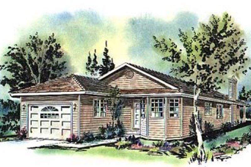 House Blueprint - Ranch Exterior - Front Elevation Plan #18-151