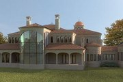 European Style House Plan - 5 Beds 5 Baths 13616 Sq/Ft Plan #119-303 Exterior - Rear Elevation