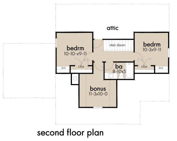 Dream House Plan - Cottage Floor Plan - Upper Floor Plan #120-273