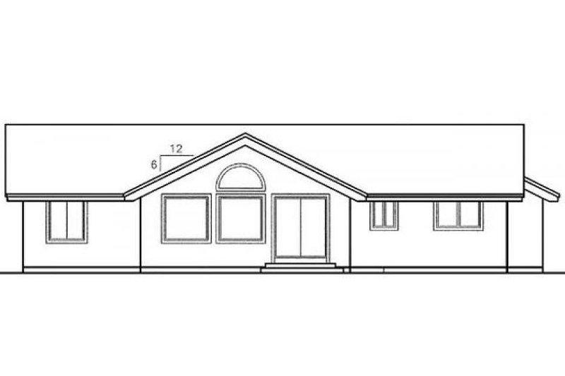 Traditional Exterior - Rear Elevation Plan #60-498 - Houseplans.com