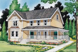 Country Exterior - Front Elevation Plan #312-372