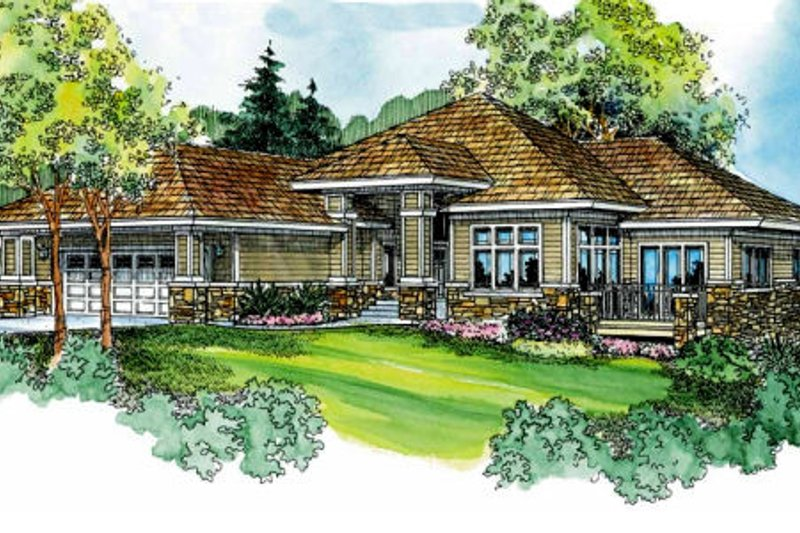 House Plan - 2 Beds 2 Baths 2538 Sq/Ft Plan #124-707 Exterior - Front Elevation