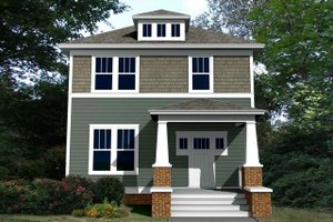 Craftsman Exterior - Front Elevation Plan #461-56