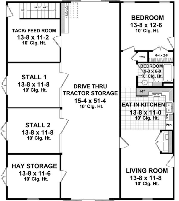 House Design - Traditional Floor Plan - Main Floor Plan #21-389