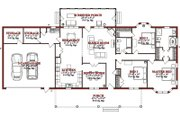 Country Style House Plan - 3 Beds 2 Baths 2240 Sq/Ft Plan #63-289