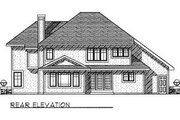 Craftsman Style House Plan - 4 Beds 3.5 Baths 2838 Sq/Ft Plan #70-457 Exterior - Rear Elevation