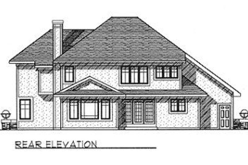 Craftsman Exterior - Rear Elevation Plan #70-457 - Houseplans.com