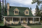 Country Style House Plan - 3 Beds 2 Baths 1428 Sq/Ft Plan #22-221 Exterior - Front Elevation