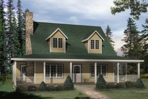 Home Plan - Country Exterior - Front Elevation Plan #22-221