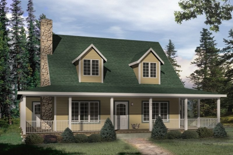 Country Exterior - Front Elevation Plan #22-221