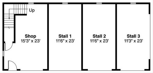 Country Floor Plan - Main Floor Plan Plan #124-787