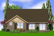 Craftsman Style House Plan - 3 Beds 2 Baths 1850 Sq/Ft Plan #48-404 Exterior - Rear Elevation