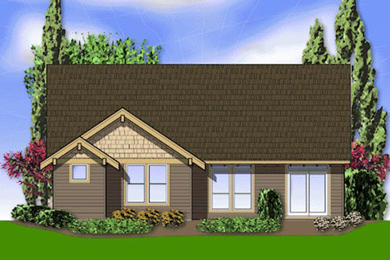 Craftsman Exterior - Rear Elevation Plan #48-404 - Houseplans.com