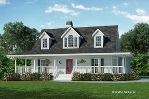 Farmhouse Exterior - Front Elevation Plan #929-77