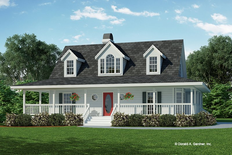 Farmhouse Style House Plan - 3 Beds 2.5 Baths 1778 Sq/Ft Plan #929-77 Exterior - Front Elevation