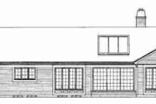 House Blueprint - Ranch Exterior - Rear Elevation Plan #72-304
