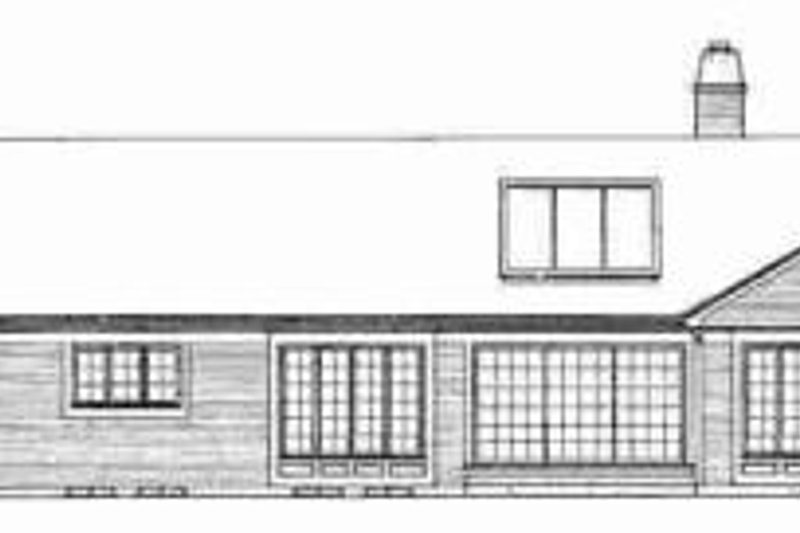 Ranch Exterior - Rear Elevation Plan #72-304 - Houseplans.com