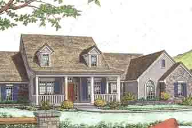 Country Style House Plan - 4 Beds 2.5 Baths 2342 Sq/Ft Plan #310-231 Exterior - Front Elevation