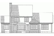 Southern Style House Plan - 4 Beds 3 Baths 3233 Sq/Ft Plan #137-162 Exterior - Rear Elevation