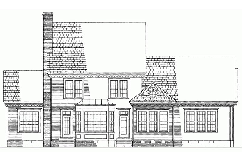 Southern Exterior - Rear Elevation Plan #137-162 - Houseplans.com