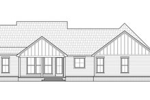 Farmhouse Exterior - Rear Elevation Plan #1074-25