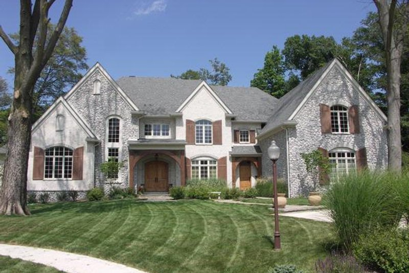 European Style House Plan - 5 Beds 7.5 Baths 7980 Sq/Ft Plan #458-13 Exterior - Front Elevation