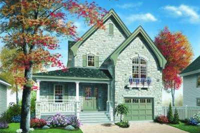 Dream House Plan - European Exterior - Front Elevation Plan #23-354