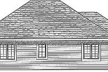 House Design - Traditional Exterior - Rear Elevation Plan #70-133