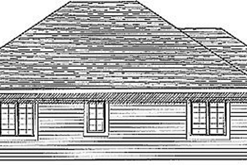 Traditional Exterior - Rear Elevation Plan #70-133 - Houseplans.com