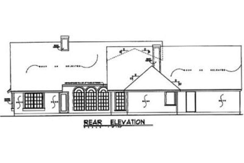 Ranch Exterior - Rear Elevation Plan #40-132 - Houseplans.com