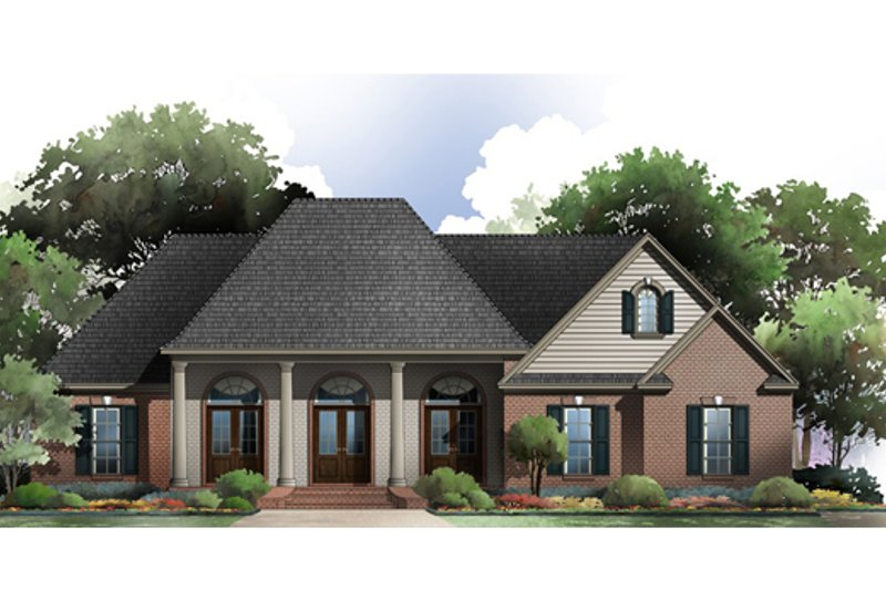 Country Exterior - Front Elevation Plan #21-360