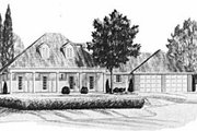 Cottage Style House Plan - 3 Beds 2 Baths 1597 Sq/Ft Plan #36-275 Exterior - Front Elevation