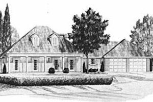 Cottage Exterior - Front Elevation Plan #36-275