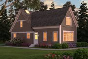 Colonial Style House Plan - 3 Beds 3 Baths 2888 Sq/Ft Plan #903-2 Exterior - Rear Elevation