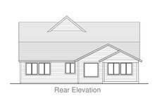 Home Plan - Traditional Exterior - Rear Elevation Plan #53-615