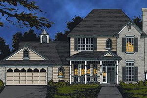 Traditional Exterior - Front Elevation Plan #40-385