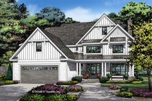 Farmhouse Exterior - Front Elevation Plan #929-1052