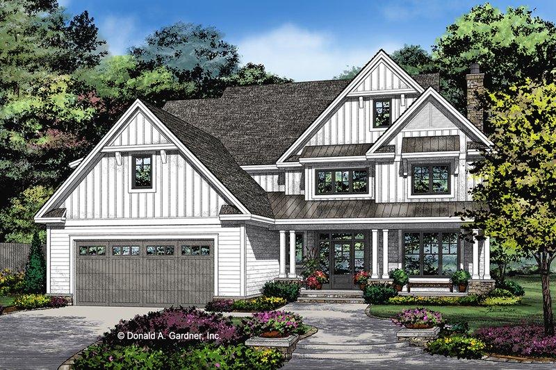 Architectural House Design - Farmhouse Exterior - Front Elevation Plan #929-1052