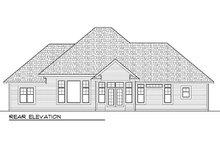 Dream House Plan - Craftsman Exterior - Rear Elevation Plan #70-986