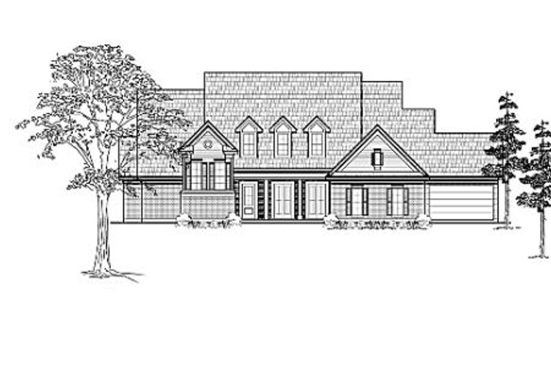 Country Exterior - Front Elevation Plan #61-131