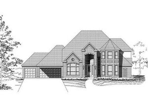 Traditional Exterior - Front Elevation Plan #411-162