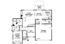 Traditional Floor Plan - Main Floor Plan Plan #124-1126