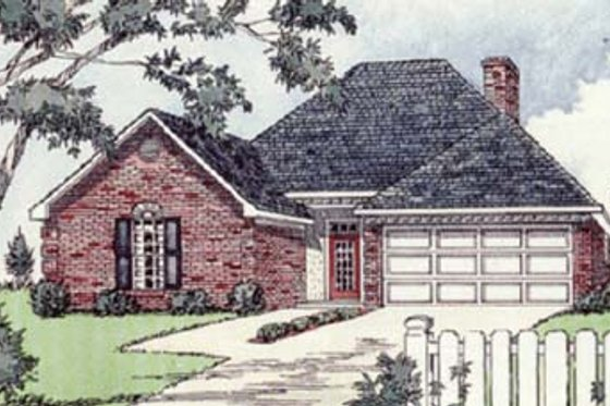 Traditional Exterior - Front Elevation Plan #16-112