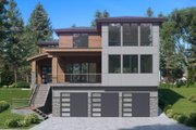 Contemporary Style House Plan - 4 Beds 3.5 Baths 3980 Sq/Ft Plan #1066-62 Exterior - Front Elevation