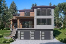 Architectural House Design - Contemporary Exterior - Front Elevation Plan #1066-62