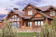 Craftsman Style House Plan - 3 Beds 4.5 Baths 3959 Sq/Ft Plan #892-16 Exterior - Rear Elevation
